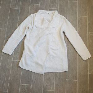 PJ Salvage White Fleece Lounge Sweater